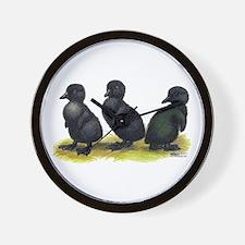 Cayuga Ducklings Wall Clock