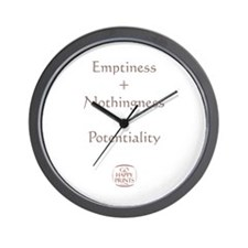 Emptiness + Nothingness = Potentiality Wall Clock