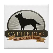 Cattle Dog Tile Coaster