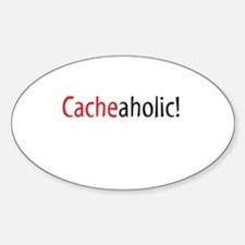 Cacheaholic! Oval Decal
