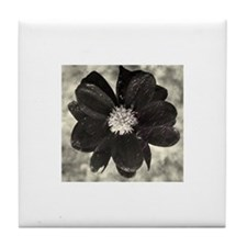 Smoky Bloom Tile Coaster