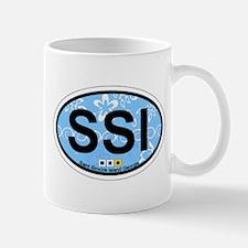 St. Simons Island - Oval Design. Mug