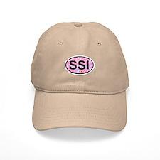 St. Simons Island - Oval Design. Baseball Cap