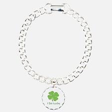 I got lucky four leaves clover Bracelet