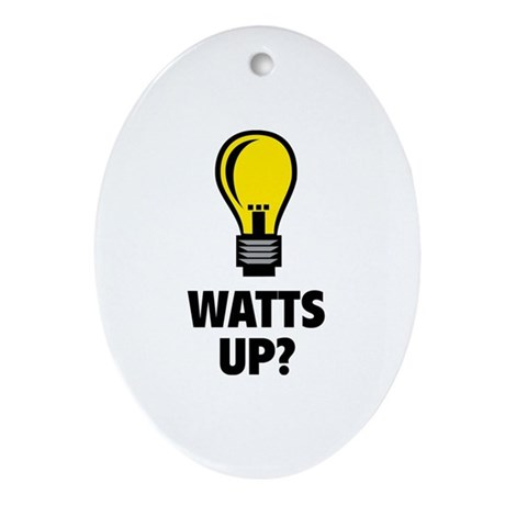 Watts Up ? Ornament (Oval)