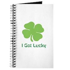 I got lucky four leaves clover Journal