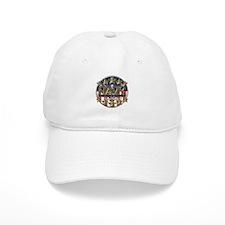 USN Navy Honor RWB Baseball Cap