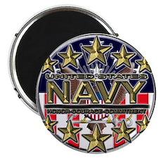 """USN Navy Honor RWB 2.25"""" Magnet (100 pack)"""