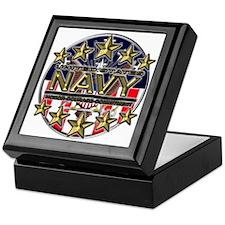 USN Navy Honor RWB Keepsake Box