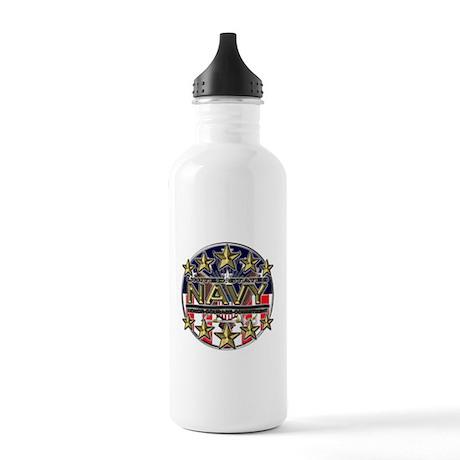 USN Navy Honor RWB Stainless Water Bottle 1.0L