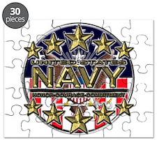 USN Navy Honor RWB Puzzle