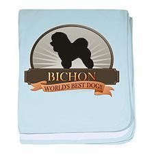 Bichon Frise baby blanket