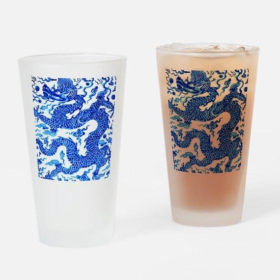 Vintage Blue Dragon Chinese Porcelain Vase Design