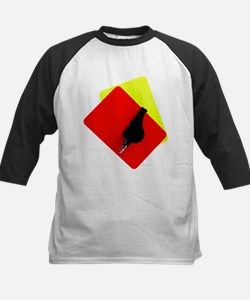 red and yellow card Kids Baseball Jersey