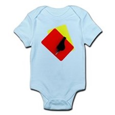 red and yellow card Infant Bodysuit