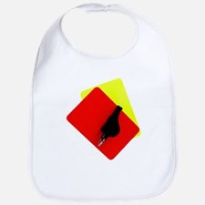 red and yellow card Bib