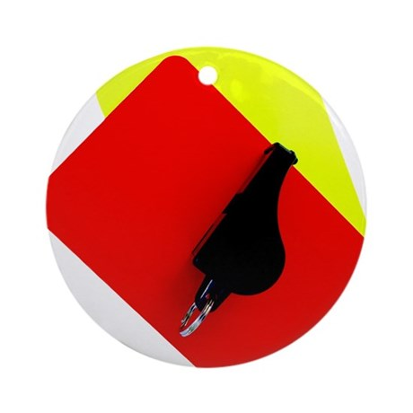 red and yellow card Ornament (Round)