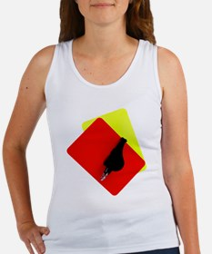red and yellow card Women's Tank Top