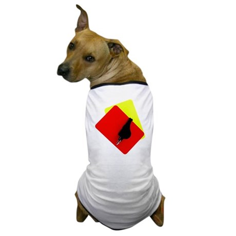 red and yellow card Dog T-Shirt