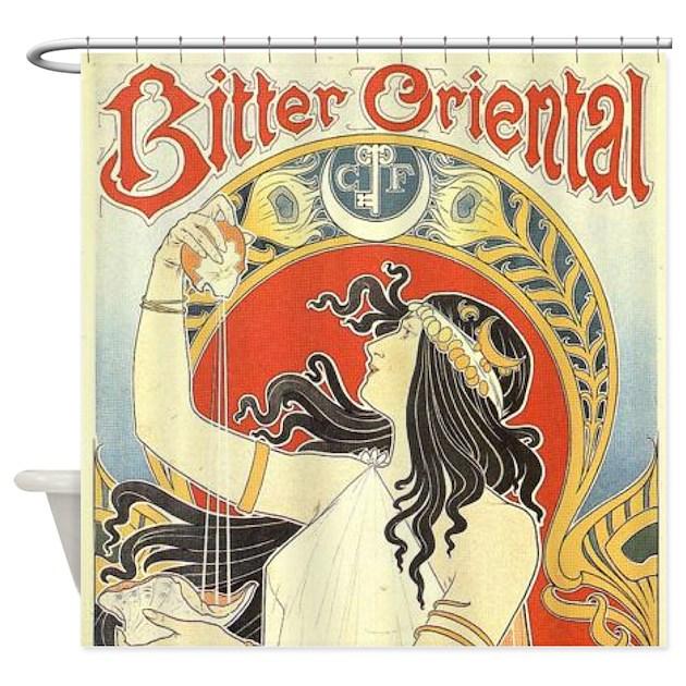 Art Nouveau Shower Curtain by alondrascreations
