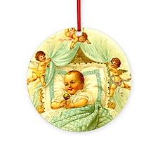 Vintage Victorian New Baby Shower Gift Cherubs Orn