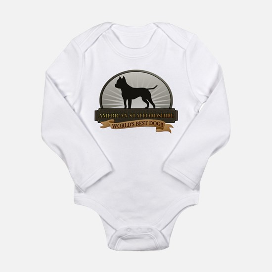 American Staffordshire Long Sleeve Infant Bodysuit