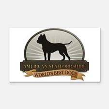 American Staffordshire Rectangle Car Magnet