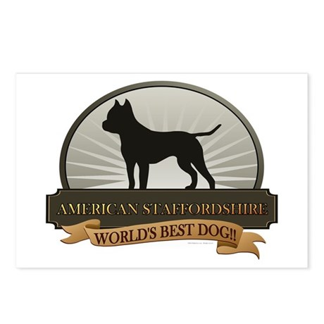 American Staffordshire Postcards (Package of 8)