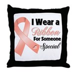 Special Uterine Cancer Throw Pillow