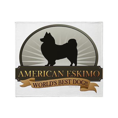 American Eskimo Throw Blanket