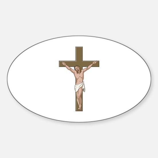 Cross Sticker (Oval)