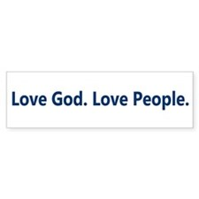 Just Love Bumper Sticker