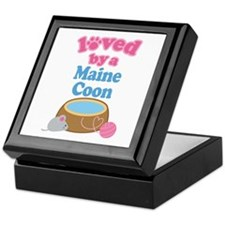 Loved By A Maine Coon Keepsake Box