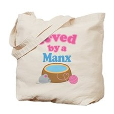 Loved By A Manx Tote Bag