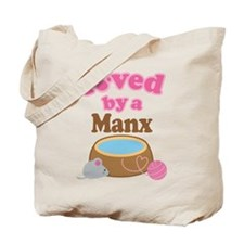 Loved By Manx Cat Tote Bag