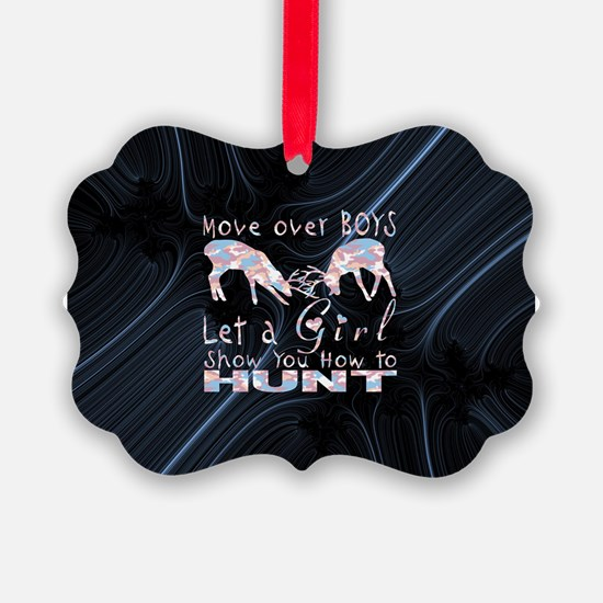 GIRL DEER HUNTER Ornament