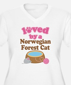 Loved By Norwegian Forest Cat Cat T-Shirt