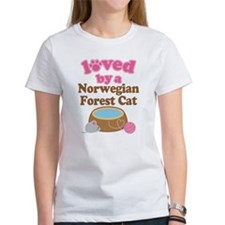 Loved By Norwegian Forest Cat Cat Tee