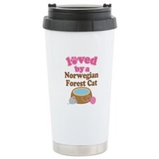 Loved By Norwegian Forest Cat Cat Travel Mug