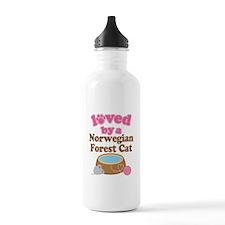 Loved By Norwegian Forest Cat Cat Water Bottle
