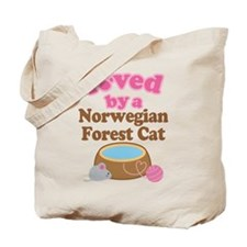 Loved By Norwegian Forest Cat Cat Tote Bag