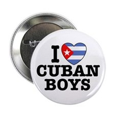 I Love Cuban Boys Button