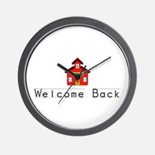 Welcome Back Wall Clock