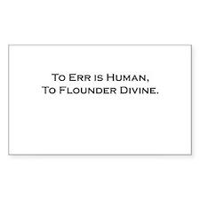 Divine Flounder Rectangle Decal