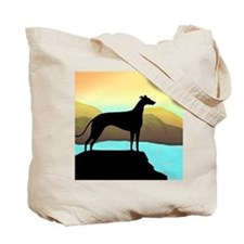 greyhound by the sea Tote Bag