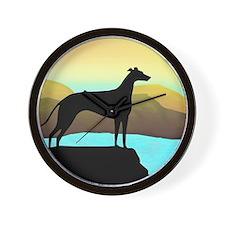 greyhound by the sea Wall Clock