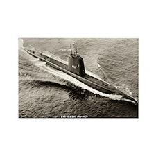 USS SEA FOX Rectangle Magnet