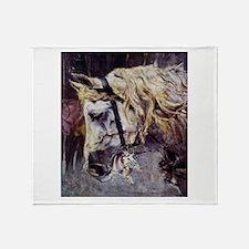 Giovanni Boldini Head Of A Horse Throw Blanket