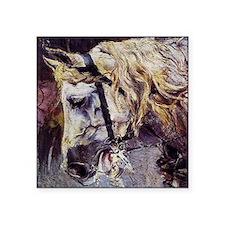 """Giovanni Boldini Head Of A Horse Square Sticker 3"""""""