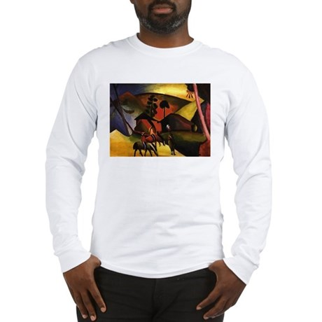 August Macke Native Aericans on horses Long Sleeve